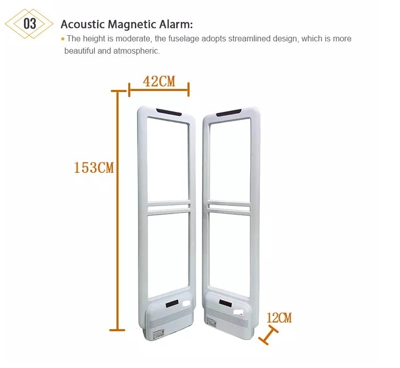 EG-AM04 58Khz dual AM anti theft shop Alarm system eas antenna clothing security scanner gate sensors